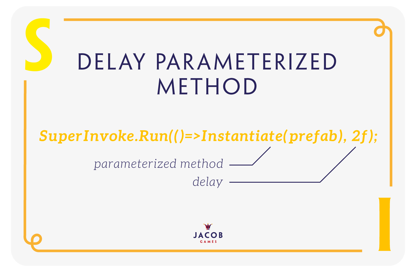 JacobGames - Jacob Games SuperInvoke Delay Parameterized Method